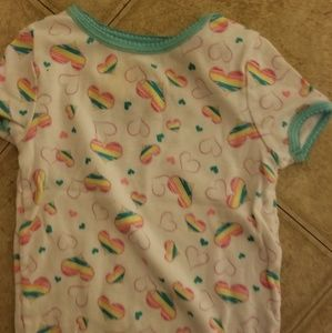 Hearts Short Sleeve Top Girls Size 3T